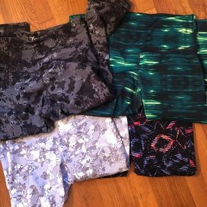 Old Navy Active Go-Dry Cropped Leggings